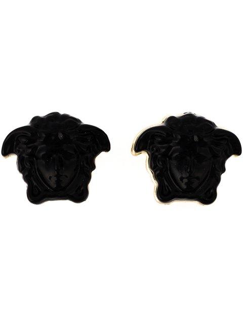 ed96e610b VERSACE MEDUSA EARRINGS, D410C BLACK | ModeSens