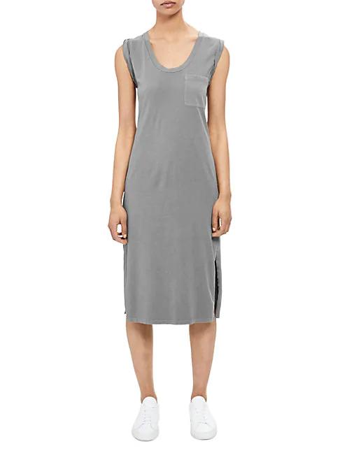 Theory Women's Muscle T-shirt Dress In Melange Grey