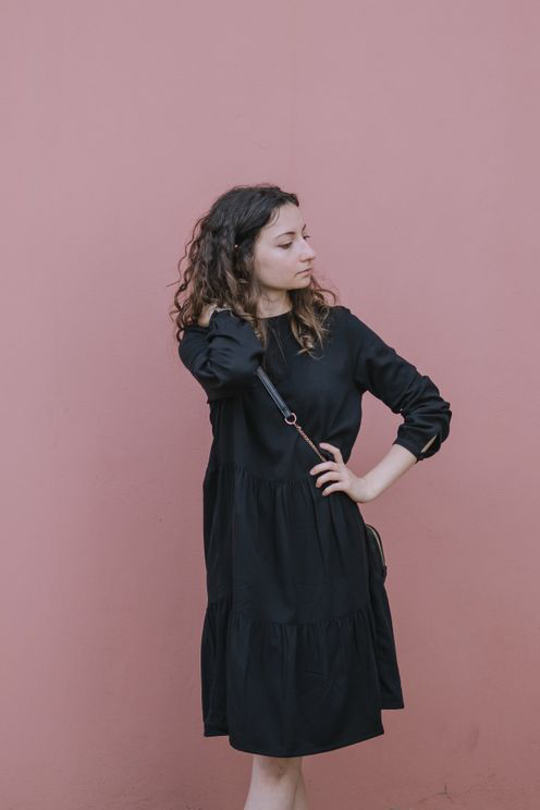 Armedangels Kaarina Ruffled Black Dress