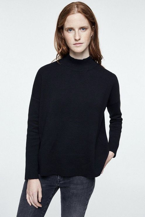 Armedangels Yunaa Organic Cotton Knitted Sweatshirt Black