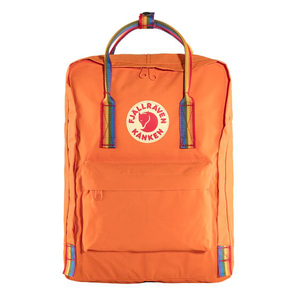 Fjall Raven Fjallraven Kanken Rainbow Backpack - Burnt Orange/rainbow Colour: Bur