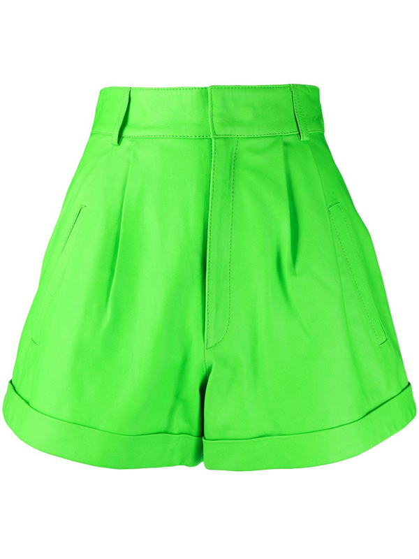 Manokhi High-waisted A-line Shorts In Green