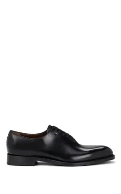 Salvatore Ferragamo Men's Nero Carmelo Tramezza Plain Toe Oxfords In Black