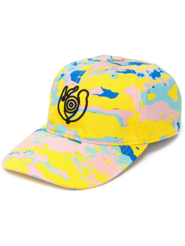 Loewe Eye-embroidered Cotton Baseball Cap In Yellow