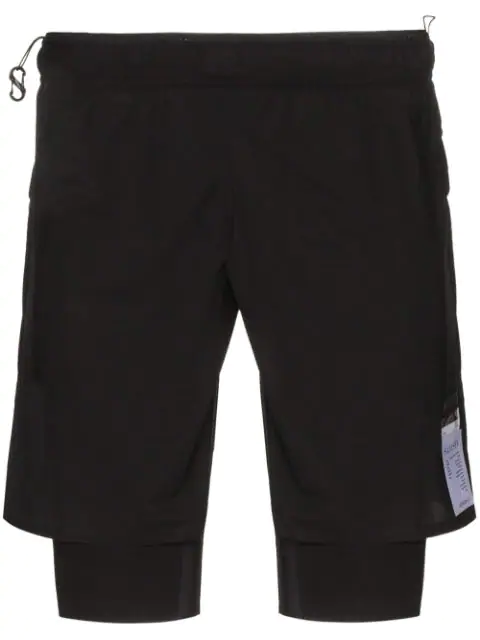 """Satisfy Justice™ Trail Long Distance 10"""" Shorts In Black"""