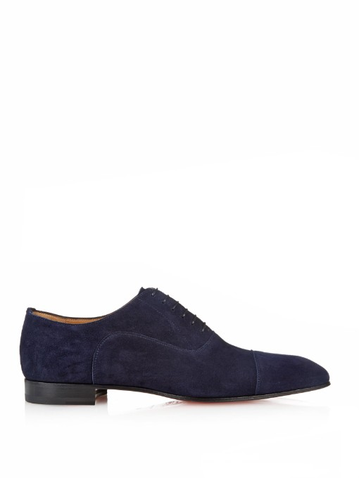 plus récent 4ebb4 0ef7f Greggo Suede Lace-Up Shoes in Navy