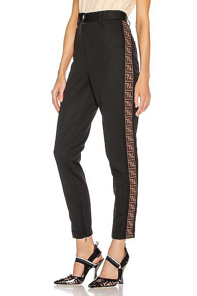 Fendi Ff Tailored Pant In Black