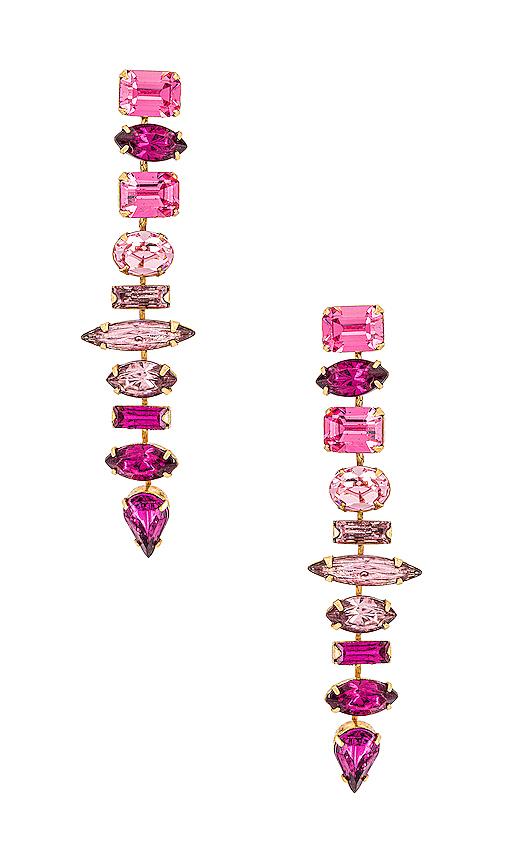 Elizabeth Cole Starla Earrings In Pink