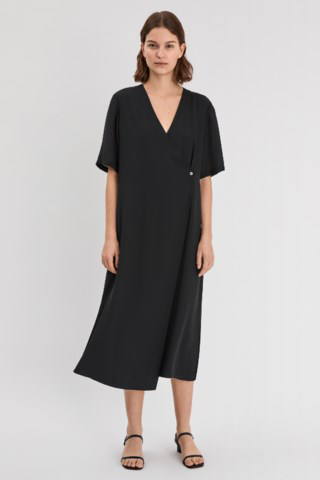 Filippa K Amalia Tie-waist Long Dress In Black
