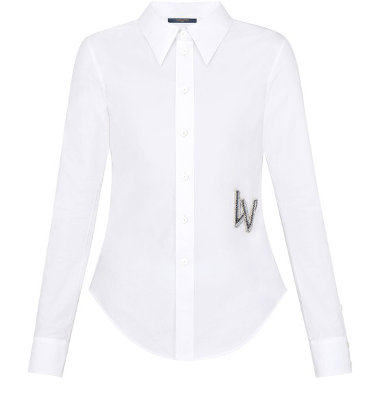 Louis Vuitton Shirt With Embroidered Patch In White