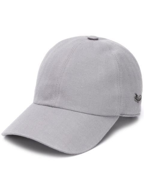 Ermenegildo Zegna Herringbone Cap In Grey