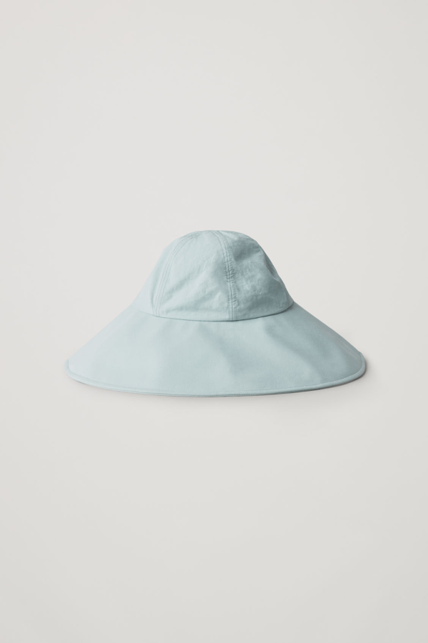 Cos Hat With Wide Brim In Turquoise
