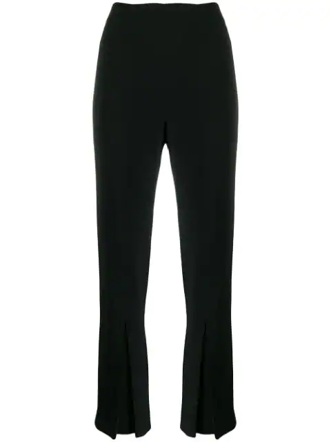 Roland Mouret Salthill Pleated Crepe Kick-flare Pants In Black