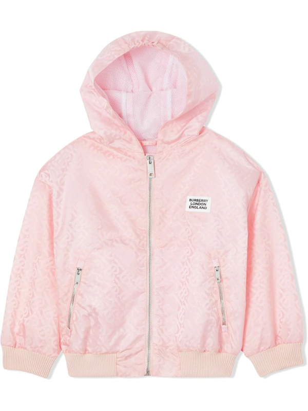Burberry Kids' Monogram Print Jacket In Pink