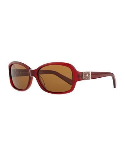 314719c45036 CHEYENNE POLARIZED RECTANGLE SUNGLASSES, RED. cheyenne sunglasses by kate  spade new york. Acetate ...