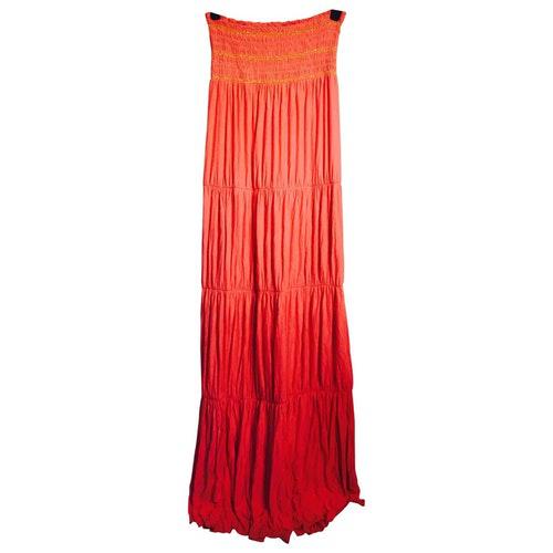 Pre-owned T-bags Orange Cotton - Elasthane Dress