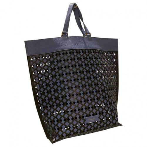 Pre-owned Vionnet Navy Leather Handbag