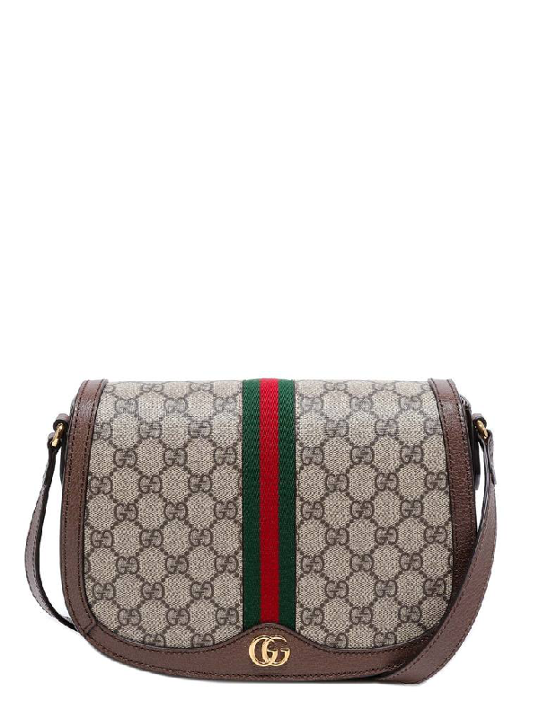 Gucci Ophidia Gg Saddle Bag In Multi