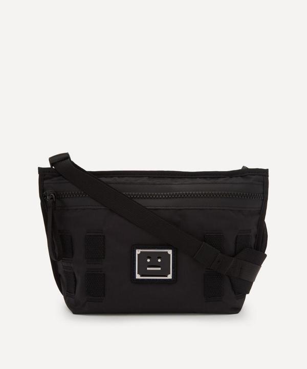 Acne Studios Logo Plaque Cross-body Bag In Black