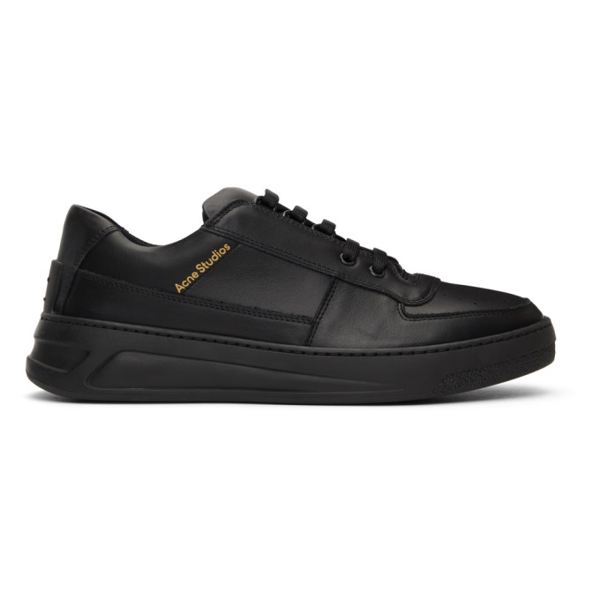 Acne Studios Men's Perey Lace-up Leather Sneakers In Black