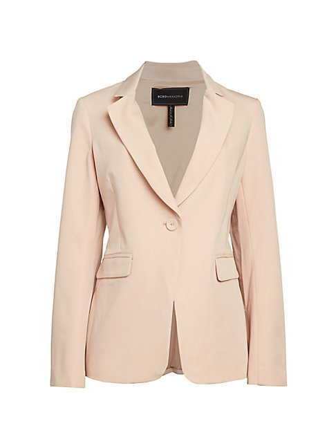 Bcbgmaxazria Tailored One-button Blazer In Bare Pink