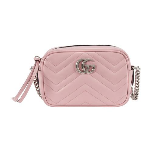 Gucci Gg Marmont Mini Crossbody Bag In Wild Rose