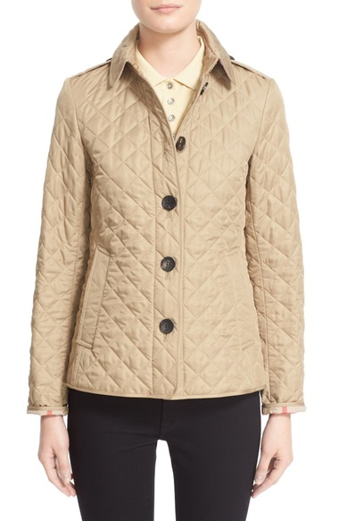 Ashurst Classic Modern Quilted Jacket Taupe In Canvas