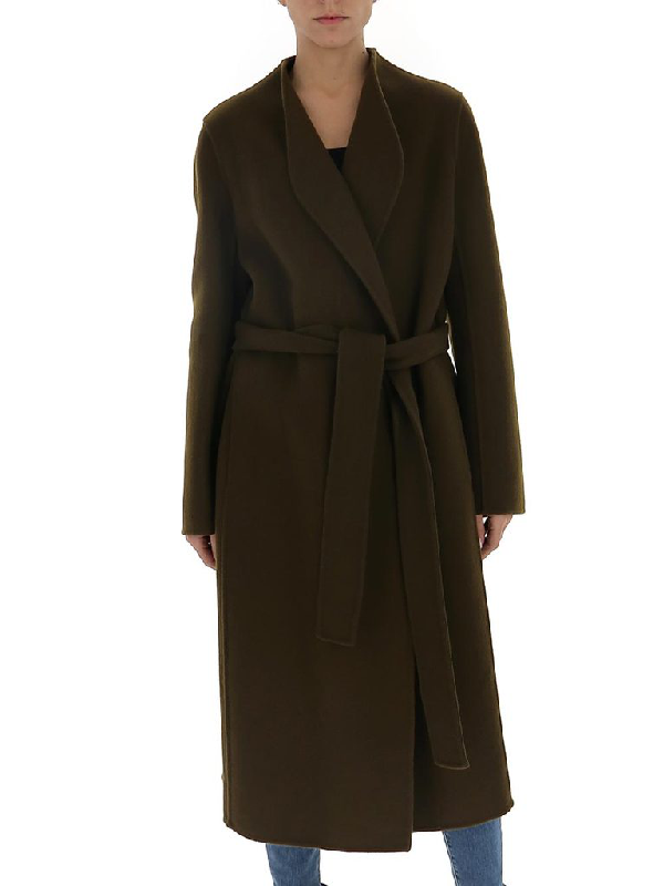 The Row Belted Coat In Green