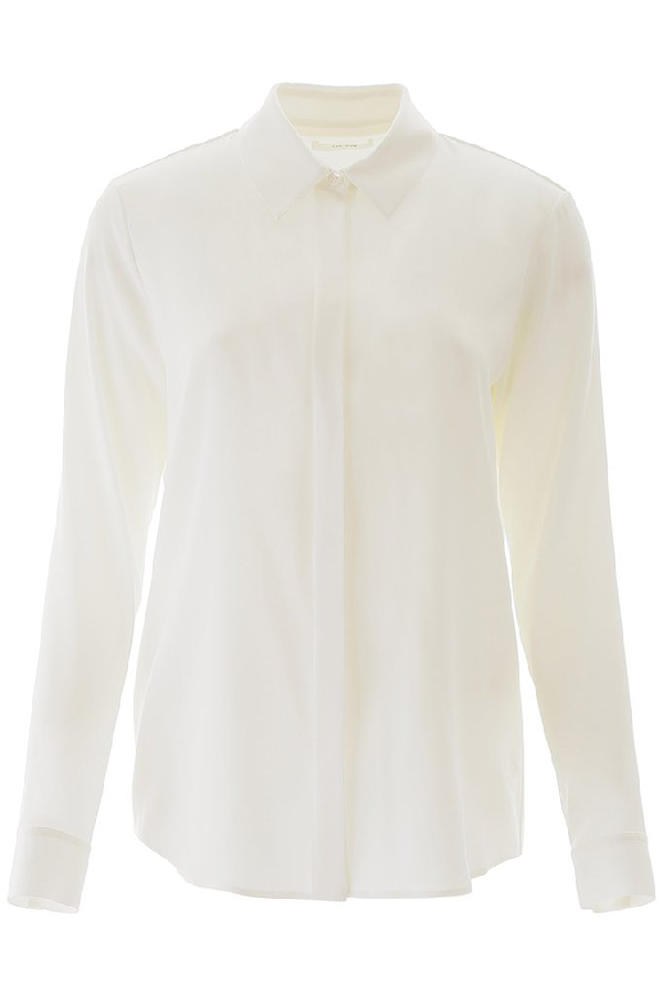 The Row Curved Hem Shirt In White