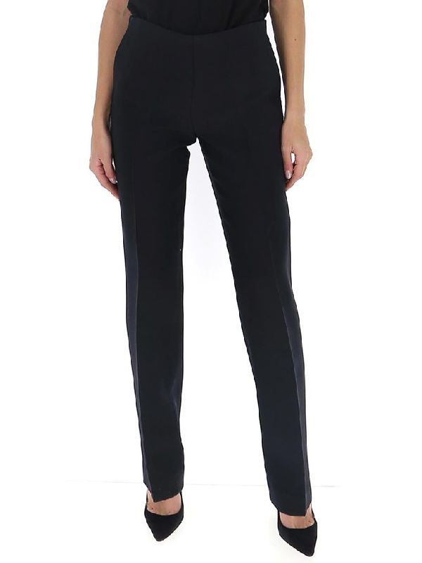 The Row Straight Leg Trousers In Black