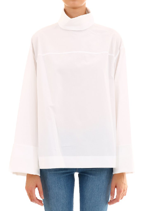 The Row Turtleneck Shirt In White