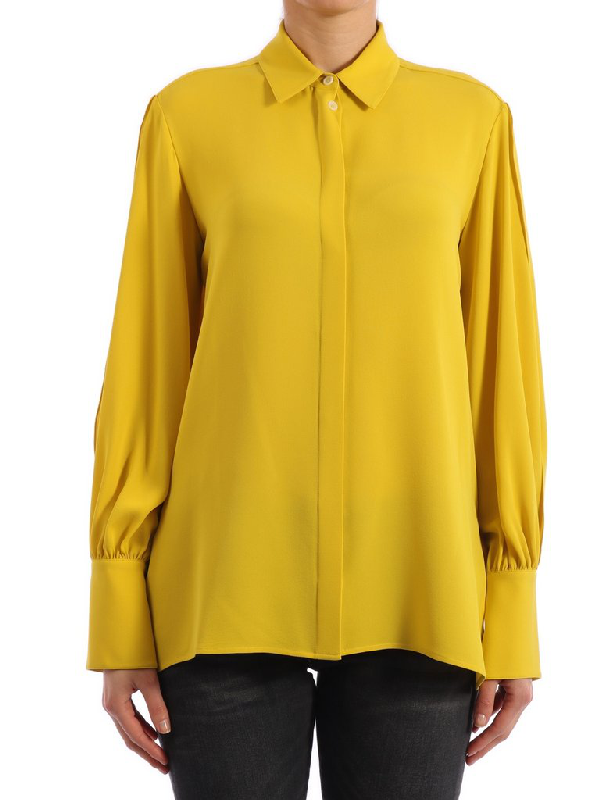 The Row Flared Shirt In Yellow