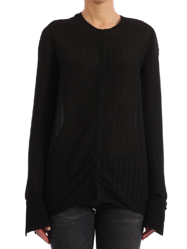 The Row Pleated Shirt In Black