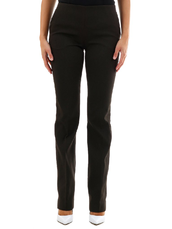 The Row Slim Fit Trousers In Brown