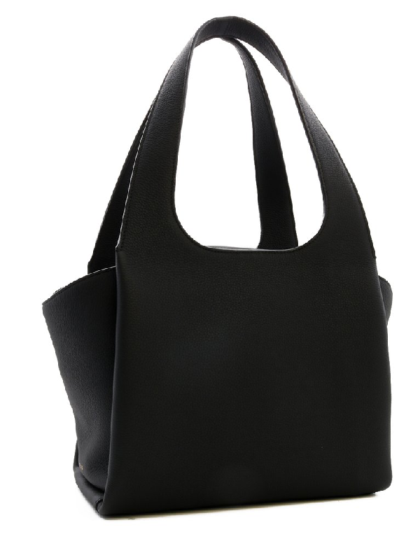 The Row Tr1 Tote Bag In Black