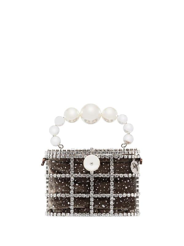 Rosantica 'holli Cometa' Mini-tasche Mit Perlen In Grey
