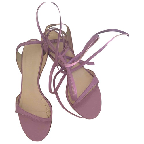 Pre-owned Tibi Purple Patent Leather Sandals