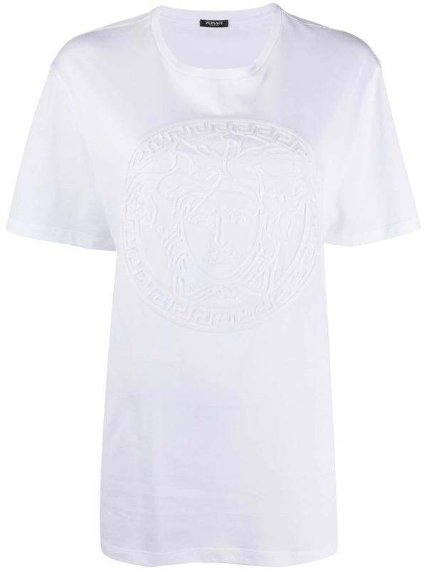 Versace Medusa-motif T-shirt In White
