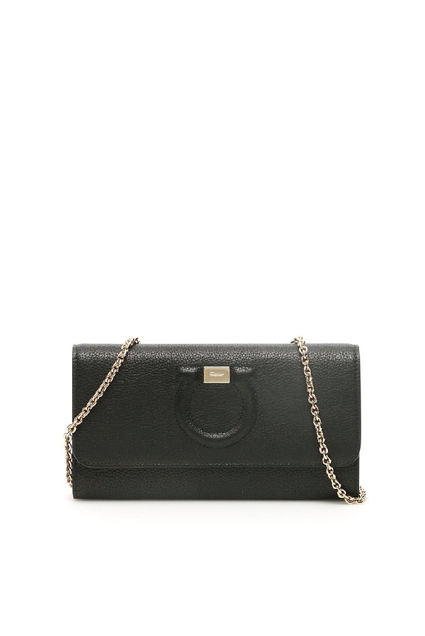 Salvatore Ferragamo Gancini Mini Bag In Black