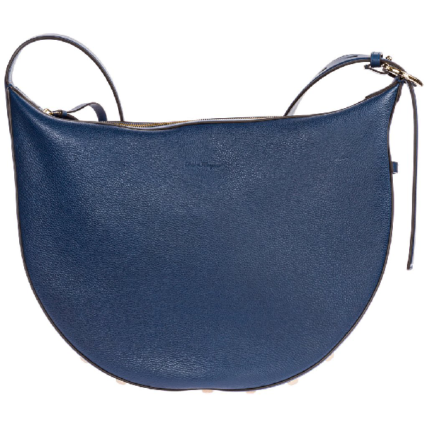 Salvatore Ferragamo The Studio Shoulder Bag In Blue