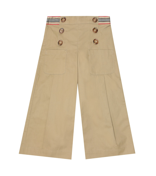 Burberry Kids' Little Girl's & Girl's Icon Stripe Trousers In Yellow