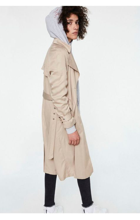 Armedangels Maxi Trench Coat In Neutral