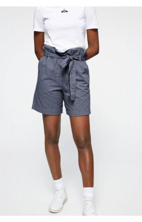 Armedangels Tabitha Chambray Shorts In Blue