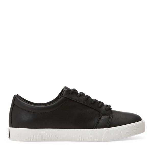 Lauren Ralph Lauren Joslin Leather Sneaker In Black