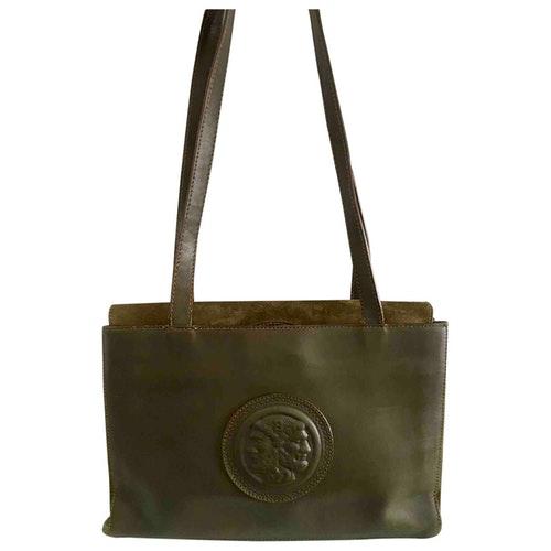 Pre-owned Fendi Green Leather Handbag