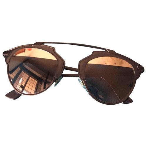 Pre-owned Dior So Real Black Metal Sunglasses