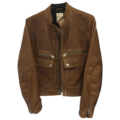 Pre-owned Zadig & Voltaire Spring Summer 2019 Brown Leather Leather Jacket