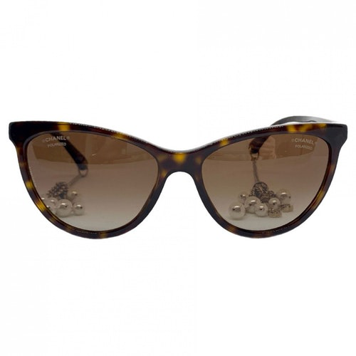 Pre-owned Chanel Brown Sunglasses