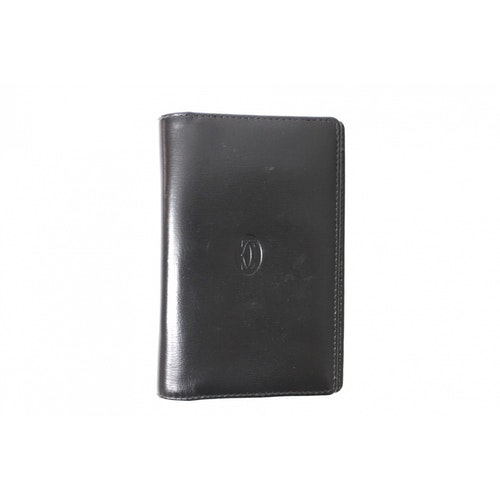 Pre-owned Cartier Black Leather Wallet