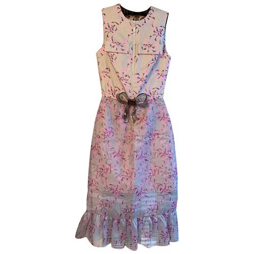 Pre-owned Christopher Kane Grey Silk Dress